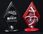 Piano Finish Diamond Shaped Acrylic Award Employee Awards