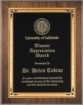 Walnut Beveled Recognition Plaque (t) Employee Awards