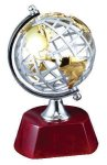 World Globe on Rosewood Base (t) Employee Awards