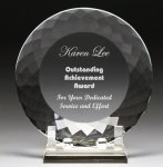 Corporate Crystal Facet Plates  t Employee Awards