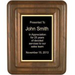 Floating Solid Walnut Plaque (T) Employee Awards