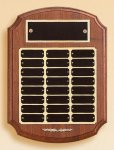 American Walnut Ornate Perpetual Plaque  t Employee Awards