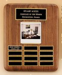 American Walnut Photo Perpetual Plaque  t Employee Awards