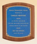 American Walnut Plaque with Linen Textured Plate  t Employee Awards