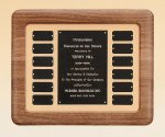 American Walnut Frame Perpetual Plaque  t Employee Awards