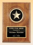 American Walnut Star Plaque   t Employee Awards