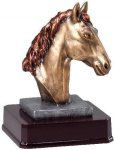 Bronze Finish Horse Head Award Equestrian Trophy Awards