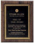 Walnut Hardwood Bevel Edge Plaques      t Fire and Safety Awards