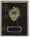 Black Marble Step 'N Roll Edge with Gold Inlay Plaques  figure not in.  T Firefighter Trophy Awards