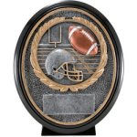 Football Resin Oval  T Football Trophy Awards