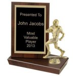 Standing Plaque, 6(t) Football Trophy Awards