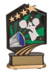 Cheerleading Resin Trophy Graphic Star Resin Trophies
