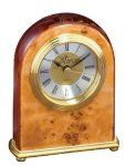 Domed Burl Desk Clock (t) Mantle Clocks