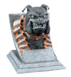 Bulldog Mascot  t Mascot Resin Trophy Awards
