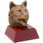 Wolf Resin   t Mascot Resin Trophy Awards