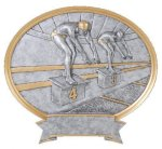 Legend Swimming Oval Award  t Oval Resin Trophy Awards
