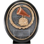 Cheer Resin Oval  T Oval Resin Trophy Awards