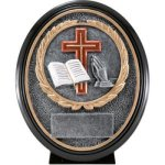 Christian Resin Oval   T Oval Resin Trophy Awards
