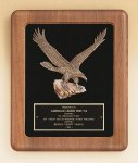American Walnut Frame Plaque with Eagle Casting Patriotic Awards