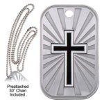 Cross Dog Tag  t Religious Awards