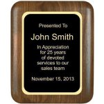 Elliptical Solid Walnut Plaque (1b07) (t) Sales Awards