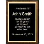 Bevel Walnut Veneer Plaque(1A14) (t) Sales Awards