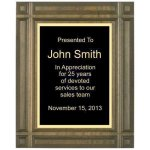 Deep Groove Solid Walnut Plaque (t) Sales Awards