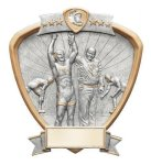 Signature Series Wrestling Shield Award  t Signature Shield Resin Trophy Awards
