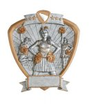 Signature Series Cheerleader Shield Award  t Signature Shield Resin Trophy Awards