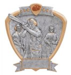Signature Series Trap Shooter Shield Award  t Signature Shield Resin Trophy Awards
