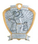 Signature Series Golf Shield Award  t Signature Shield Resin Trophy Awards