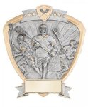 Signature Series Lacrosse Shield Award  t Signature Shield Resin Trophy Awards