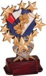 Cheerleading - Starburst Resin Trophy Starburst Resin Trophies