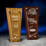 Acrylic Plaque with Stained Wood Wood Acrylic Awards