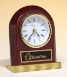 Rosewood Piano Finish Clock  t Wood Metal Accent Awards